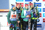 16th March 2019, Ostersund, Sweden; IBU World Championships Biathlon, day 8, mens relay; Erik Lesser, Roman Rees, Benedikt Doll and Arnd Peiffer of Germany