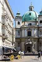 Barocke Peterskirche am Peters Platz, Wien, &Ouml;sterreich, UNESCO-Weltkulturerbe<br /> Baroque Peter's Church, Vienna, Austria, world heritage