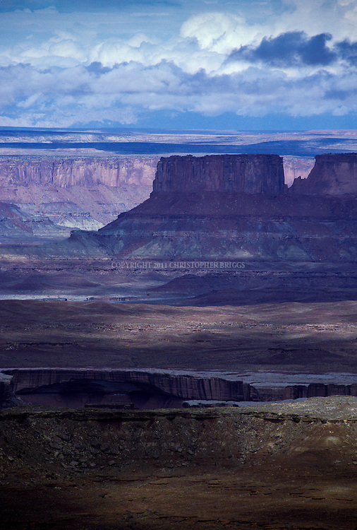 Island in the Sky, Canyonlands National Park, est. 9/12/1964. 527.5 square miles (1,366 km2) (337,598ac). San Juan, Wayne, Garfield, and Grand counties, UT.