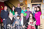 The O'Shea family from Glenbeigh who were celebratings Michael's birthdaya bd giving Roisie a fond farewell in lord Kenmares restaurant on Saturday night front row l-r: Helen and Oran Thorne, Michael O'Shea, Rosie O'Shea, Lauren McClellane. back row: Stuart McClellane, Mary O'Shea, Mike o'Shea, Conleth Thorne, Ursulla Bastible, Paul thorne, Teresa and Megan McClellane,
