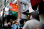 Cynthia Yee stops at Old Chinatown Lane, or alley of cats, where it is said that the cats are reincarnate prostitutes, in San Francisco, Ca., on Friday, June 18, 2010.
