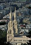 Saints Peter & Paul Church from Coit Tower, San Francisco. Bob & Lou's trip to California Nov. 2015. (Bob Gathany Photographer)