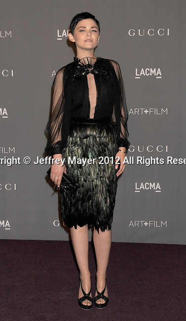 LOS ANGELES, CA - OCTOBER 27: Ginnifer Goodwin arrive at LACMA Art + Film Gala at LACMA on October 27, 2012 in Los Angeles, California.