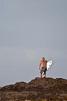 BOBBY MARTINEZ (USA)  about to jump off Snapper Rocks, Coolangatta , Queensland, Australia.  Photo: joliphotos.com