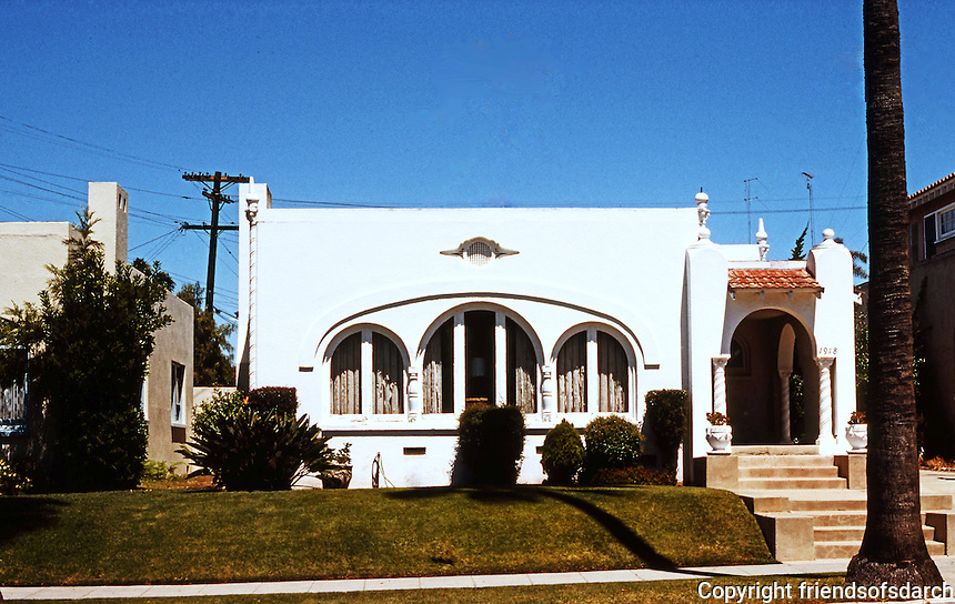 San Diego: Spanish Colonial (1920's). Mission Hills. (Photo '78)