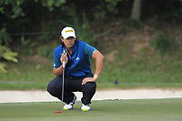 Gavin Green (MAS) on the 13th green during Round 1 of the UBS Hong Kong Open, at Hong Kong golf club, Fanling, Hong Kong. 23/11/2017<br /> Picture: Golffile | Thos Caffrey<br /> <br /> <br /> All photo usage must carry mandatory copyright credit     (&copy; Golffile | Thos Caffrey)