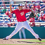 9 March 2014: Washington Nationals pitcher Luis Ayala on the mound during a Spring Training game against the St. Louis Cardinals at Space Coast Stadium in Viera, Florida. The Nationals defeated the Cardinals 11-1 in Grapefruit League play. Mandatory Credit: Ed Wolfstein Photo *** RAW (NEF) Image File Available ***