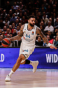 9th February 2018, Wiznik Centre, Madrid, Spain; Euroleague Basketball, Real Madrid versus Olympiacos Piraeus; Jeffery Taylor (Real Madrid Baloncesto) in action