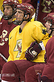 (Anthony Aiello) Peter Harrold (Justin Greene) - The Boston College Eagles practiced on Wednesday, April 5, 2006, at the Bradley Center in Milwaukee, Wisconsin, in preparation for their 2006 Frozen Four Semi-Final game against the University of North Dakota.