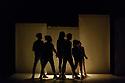 "London, UK. 05.09.2018. Breakin' Convention presents Piere Rigal's ""Scandale"", at Sadler's Wells. Dancers are: Amélie Jousseaume, Tony 'No Script' Ndoumba, Camille 'Kami' Regneault, Julien 'Bee-D' Saint-Maximin, Steve Kamseu. Musician: Gwenaël Drapeau (drummer). Photograph © Jane Hobson."