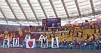 Calcio, Serie A: Roma vs Lazio. Roma, stadio Olimpico, 22 settembre 2013.<br /> AS Roma fans during the Italian Serie A football match between AS Roma and Lazio, at Rome's Olympic stadium, 22 September 2013.<br /> UPDATE IMAGES PRESS/Riccardo De Luca