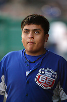 May 26, 2010: Javier Solano of the Inland Empire 66'ers during game against the Bakersfield Blaze at Arrowhead Credit Union Park in San Bernardino,CA.  Photo by Larry Goren/Four Seam Images