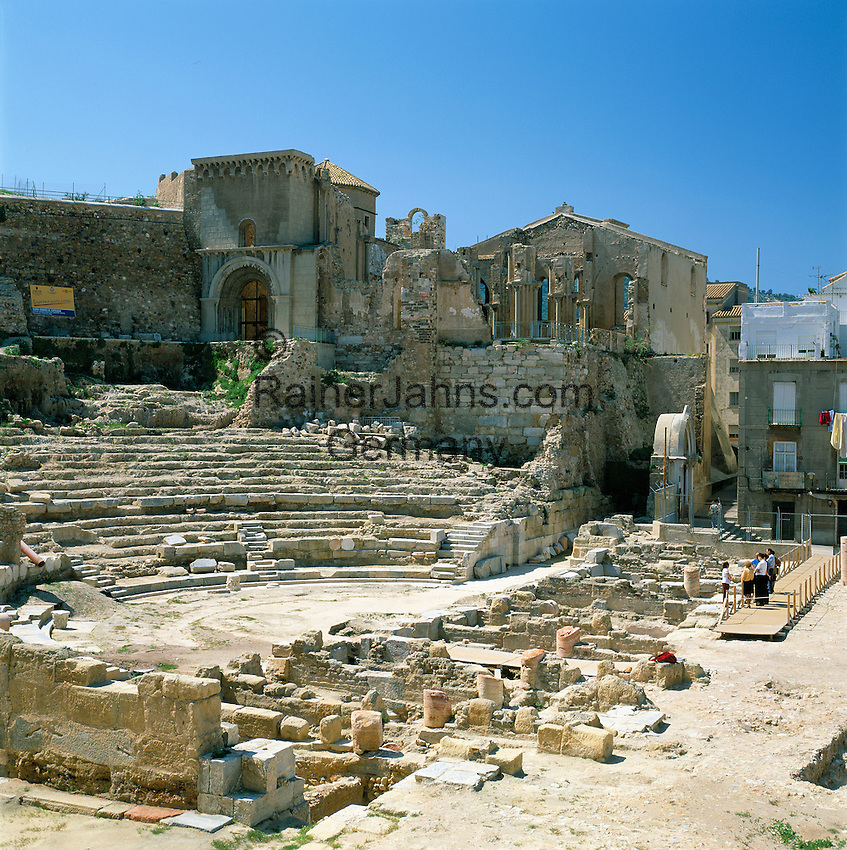 Spain, Murcia, Cartagena: Ruins of Cathedral and Amphitheatre | Spanien, Murcia, Cartagena: Ruinen der Kathedrale und des Amphitheaters