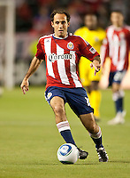CARSON, CA – APRIL 9, 2011: Chivas USA midfielder Nick LaBrocca (10) during the match between Chivas USA and Columbus Crew at the Home Depot Center, April 9, 2011 in Carson, California. Final score Chivas USA 0, Columbus Crew 0.