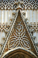 Gothic architectural detail of the Door of the Prince, Seville Cathedral, Spain