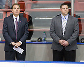The game also marked Jim Madigan's debut as Northeastern Head Coach and Jerry Keefe as Assistant Coach. - The visiting St. Francis Xavier University X-Men defeated the Northeastern University Huskies 8-5 on Sunday, October 2, 2011, at Matthews Arena in Boston, Massachusetts.