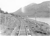 Tank &amp; passing siding showing relationship to Trout Lake.<br /> RGS  Trout Lake, CO  Taken by Barriger, John W. III - 9/24/1935