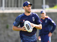 Simon Mannering, <br /> Vodafone Warriors training session. Mt Smart Stadium, Auckland, New Zealand. NRL Rugby League. Tuesday 13 March 2018 &copy; Copyright photo: Andrew Cornaga / www.photosport.nz