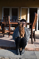 Annuska and Lola in the morning light. Cuatepetitla house with Obie, San Jose de los Laureles, Morelos, Mexico