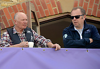 Putney/Mortlake, GREATER LONDON. United Kingdom. 2017 Women's and Men's University Boat Races, held over, The Championship Course, Putney to Mortlake on the River Thames. Left,  Bobby PRENTISS and Right Nick HOWELLS<br /> Sunday  02/04/2017<br /> <br /> [Mandatory Credit; Intersport Images]