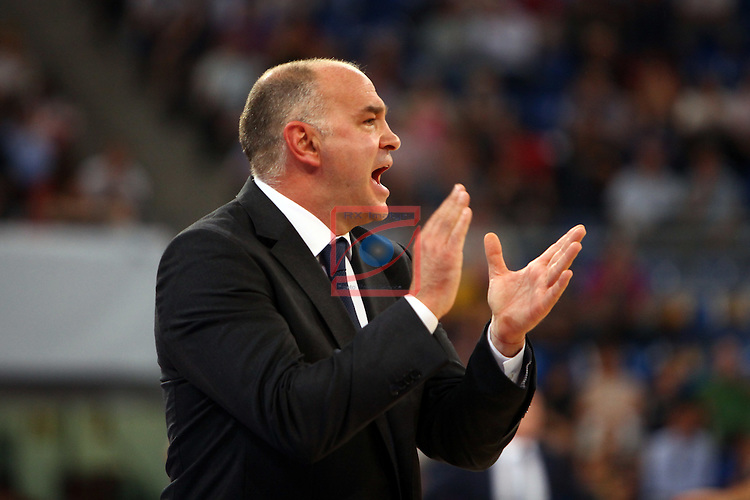 XI Supercopa ENDESA-Final.<br /> R. Madrid vs FC Barcelona: 99-78.<br /> Pablo Laso.