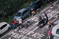 Miguel Angel Lopez (COL/Astana) & Wout Poels (NED/SKY) up the final climb to Pratonevoso<br /> <br /> stage 18: Abbiategrasso - Pratonevoso (196km)<br /> 101th Giro d'Italia 2018