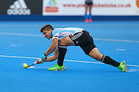 Argentina's Gonzalo Peillat fires in his shot from a penalty corner during the Hockey World League Quarter-Final match between Argentina and Pakistan at the Olympic Park, London, England on 22 June 2017. Photo by Steve McCarthy.