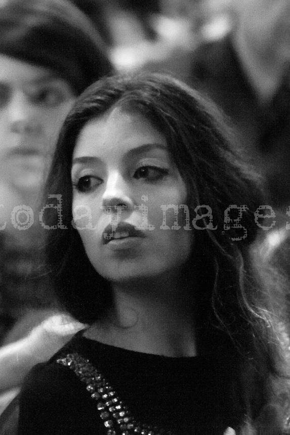 Solea Morente before her daughter concert, Estrella Morente  at the Teatro Real  in Madrid, 2013
