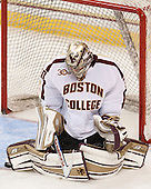 Thatcher Demko (BC - 30) - The Boston College Eagles defeated the visiting St. Francis Xavier University X-Men 8-2 in an exhibition game on Sunday, October 6, 2013, at Kelley Rink in Conte Forum in Chestnut Hill, Massachusetts.
