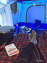 October 8 thru October 21, 2017 / Home away from home.  This is my car-camping rig used throughout my cross country trip to Yellowstone National Park in Yellowstone, Wyoming / shown: Inside my Napier hatchback tent and some of my dining supplies at one of many campsites along the way. Very comfortable digs. / I made stops in Laramie, Jackson, Yellowstone with travels thru Pennsylvania, Ohio, Indiana, South Dakota, Wyoming, Montana, North Dakota, Missouri, Minnosota, and Illanois.