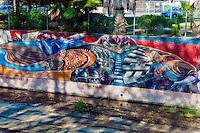"""World War II""  ""California Aqueduct"" Great Wall Mural, Los Angeles, CA, Tujunga Wash, Sub Watershed, LA River, San Fernando Valley, Los Angeles, CA"