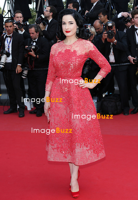 """Dita Von Teese attends the """" Behind The Candelabra' """" premiere during The 66th Annual Cannes Film Festival at The 60th Anniversary Theatre on May 21, 2013 in Cannes, France."""
