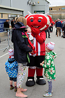 Lincoln City mascot Poacher the Imps with fans in the fan zone prior to the game<br /> <br /> Photographer Chris Vaughan/CameraSport<br /> <br /> The EFL Sky Bet League One - Lincoln City v Fleetwood Town - Saturday 31st August 2019 - Sincil Bank - Lincoln<br /> <br /> World Copyright © 2019 CameraSport. All rights reserved. 43 Linden Ave. Countesthorpe. Leicester. England. LE8 5PG - Tel: +44 (0) 116 277 4147 - admin@camerasport.com - www.camerasport.com