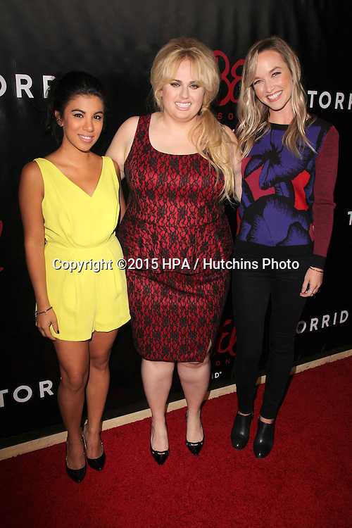 LOS ANGELES - OCT 22:  Chrissie Fit, Rebel Wilson, Kelley Jakle at the Rebel Wilson for Torrid Launch Party at the Milk Studios on October 22, 2015 in Los Angeles, CA