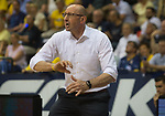 08.05.2018, EWE Arena, Oldenburg, GER, BBL, Playoff, Viertelfinale Spiel 2, EWE Baskets Oldenburg vs ALBA Berlin, im Bild<br /> voll in Action<br /> Mladen DRJENCIC (EWE Baskets Oldenburg #Headcoach, #Coach, #Trainer)<br /> Foto &copy; nordphoto / Rojahn