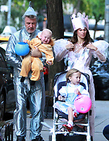 NEW YORK, NY October 31, 2017  Alec Baldwin, Carmen Baldwin. Hilaria Thomas, Leonardo Angel Charles Badwin,dress for Halloween in New York October 31,  2017. Credit:RW/MediaPunch