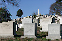 Grave stones in Arlington National Cemetery, Arlington, Virginia