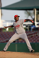 July 26 2009: Christian Beltre of the Visalia Rawhide during game against the Inland Empire 66'ers at Arrowhead Credit Union Park in San Bernardino,CA..Photo by Larry Goren/Four Seam Images