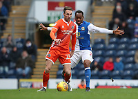 Shrewsbury Town's Alex Rodman and Blackburn Rovers' Ryan Nyambe in action during todays match<br /> <br /> Photographer Rachel Holborn/CameraSport<br /> <br /> The EFL Sky Bet League One - Blackburn Rovers v Shrewsbury Town - Saturday 13th January 2018 - Ewood Park - Blackburn<br /> <br /> World Copyright &copy; 2018 CameraSport. All rights reserved. 43 Linden Ave. Countesthorpe. Leicester. England. LE8 5PG - Tel: +44 (0) 116 277 4147 - admin@camerasport.com - www.camerasport.com