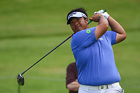 Kiradech Aphibarnrat (THA) watches his tee shot on 7 during round 1 of the 2019 Charles Schwab Challenge, Colonial Country Club, Ft. Worth, Texas,  USA. 5/23/2019.<br /> Picture: Golffile | Ken Murray<br /> <br /> All photo usage must carry mandatory copyright credit (© Golffile | Ken Murray)