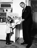 President Lyndon Johnson with my daughter Jennifer introducing my book with him called, This America.