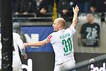 06.10.2019, Commerzbankarena, Frankfurt, GER, 1. FBL, Eintracht Frankfurt vs. SV Werder Bremen, <br /> <br /> DFL REGULATIONS PROHIBIT ANY USE OF PHOTOGRAPHS AS IMAGE SEQUENCES AND/OR QUASI-VIDEO.<br /> <br /> im Bild: Davy Klaassen (SV Werder Bremen #30) jubelt ueber sein Tor zum 0:1<br /> <br /> Foto © nordphoto / Fabisch