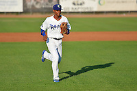 Melvin Santana (9) of the Ogden Raptors during the game against the Idaho Falls Chukars in Pioneer League action at Lindquist Field on July 26, 2014 in Ogden, Utah.  (Stephen Smith/Four Seam Images)