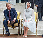 """CATHERINE, DUCHESS OF CAMBRIDGE AND PRINCE WILLIAM.visited the As Syakirin Mosque, Kuala Lumpur_14/09/2012.The Duchess covered her head with a traditional head scarf.Mandatory credit photo: ©Dias/DIASIMAGES..(Failure to credit will incur a surcharge of 100% of reproduction fees)..                **ALL FEES PAYABLE TO: """"NEWSPIX INTERNATIONAL""""**..IMMEDIATE CONFIRMATION OF USAGE REQUIRED:.DiasImages, 31a Chinnery Hill, Bishop's Stortford, ENGLAND CM23 3PS.Tel:+441279 324672  ; Fax: +441279656877.Mobile:  07775681153.e-mail: info@newspixinternational.co.uk"""