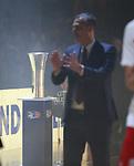19.06.2019, Mercedes Benz Arena, Berlin, GER, 1.BBL, ALBA ERLIN vs.  FC Bayern Muenchen, <br /> im Bild der Pokal, Head Coach: Dejan Radonjic (FC Bayern Muenchen)<br /> <br />      <br /> Foto © nordphoto / Engler
