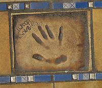 Hand print of the film star, Whoopi Goldberg, outside the Palais des Festivals et des Congres, Cannes, France.