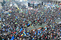 "The ""march of the million"" - the name of the protest took place on Sunday 8th of December on the Independence square in Kiev, Ukraine against current Ukrainian government and president Yanukovich. On this day people completely occupied ""government"" district in Kiev."