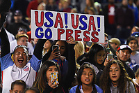 San Diego, CA - Sunday January 21, 2018: Fans during an international friendly between the women's national teams of the United States (USA) and Denmark (DEN) at SDCCU Stadium.