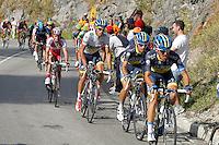 Alberto Contador (c) and Daniel Moreno (c-l) during the stage of La Vuelta 2012 between La Robla and Lagos de Covadonga.September 2,2012. (ALTERPHOTOS/Paola Otero) /NortePhoto.com<br /> <br /> **CREDITO*OBLIGATORIO** <br /> *No*Venta*A*Terceros*<br /> *No*Sale*So*third*<br /> *** No*Se*Permite*Hacer*Archivo**<br /> *No*Sale*So*third*
