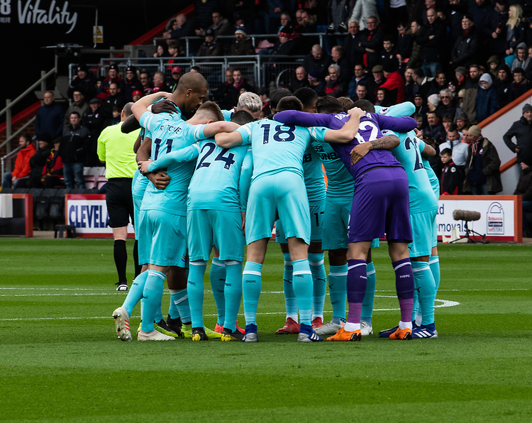 Newcastle United pre kick off brief<br /> <br /> Photographer David Horton/CameraSport<br /> <br /> The Premier League - Bournemouth v Newcastle United - Saturday 16th March 2019 - Vitality Stadium - Bournemouth<br /> <br /> World Copyright © 2019 CameraSport. All rights reserved. 43 Linden Ave. Countesthorpe. Leicester. England. LE8 5PG - Tel: +44 (0) 116 277 4147 - admin@camerasport.com - www.camerasport.com